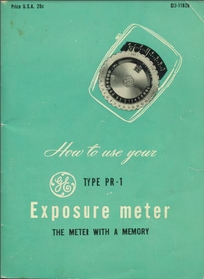 GE PR-1 Manual 1 Cover