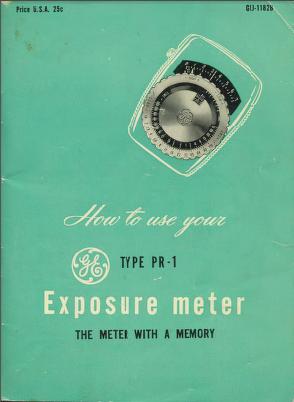GE PR-1 Manual 1 Cover