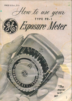 GE PR-1 Manual 2 Cover